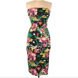 5/$25 | DNA Couture Strapless Floral Midi Dress
